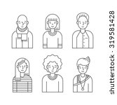 people outline gray icons... | Shutterstock .eps vector #319581428
