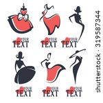 fashion and beauty logo and... | Shutterstock .eps vector #319587344