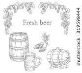 fresh beer set elements | Shutterstock .eps vector #319598444