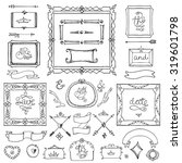 doodles geometrical frames.hand ... | Shutterstock .eps vector #319601798