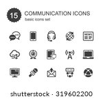 communication icons set. | Shutterstock .eps vector #319602200
