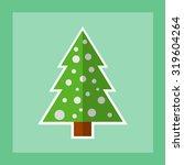 christmas tree icon. flat...   Shutterstock .eps vector #319604264