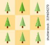 christmas tree icon. flat... | Shutterstock .eps vector #319604270