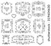 doodles swirling frames.decor... | Shutterstock .eps vector #319604630