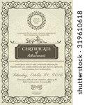 classic certificate of... | Shutterstock .eps vector #319610618