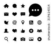 social network icon. social... | Shutterstock .eps vector #319614014