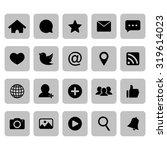 social network icon. social... | Shutterstock .eps vector #319614023