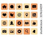 social network icon. social... | Shutterstock .eps vector #319614059