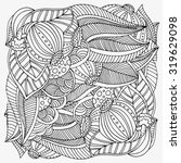 pattern for coloring book. ... | Shutterstock . vector #319629098
