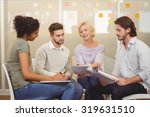 business people with documents...   Shutterstock . vector #319631510