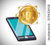bitcoin concept and technology... | Shutterstock .eps vector #319633418