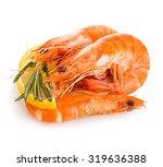 tiger shrimps with lemon slice... | Shutterstock . vector #319636388