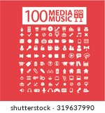 media  music icons | Shutterstock .eps vector #319637990