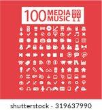 media  music icons | Shutterstock .eps vector #319637990
