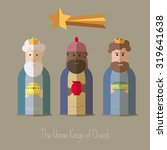 the three kings of orient... | Shutterstock .eps vector #319641638