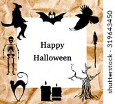 collection of  halloween icons... | Shutterstock . vector #319643450