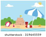 seaside background | Shutterstock .eps vector #319645559