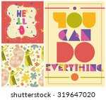 collection of cute things  card ... | Shutterstock .eps vector #319647020