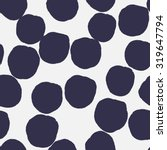 big polka dots pattern. elegant ... | Shutterstock .eps vector #319647794