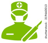 surgeon vector icon. style is...   Shutterstock .eps vector #319660013