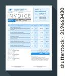 vector customizable invoice... | Shutterstock .eps vector #319663430