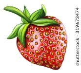 watercolor strawberry isolated... | Shutterstock . vector #319673474
