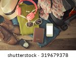 travel accessories  clothes... | Shutterstock . vector #319679378