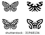 abstract butterflies | Shutterstock .eps vector #31968136