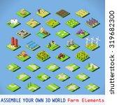 isometric building farm... | Shutterstock . vector #319682300