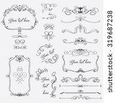 hand drawn set of elegant... | Shutterstock .eps vector #319687238
