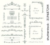 hand drawn set of elegant... | Shutterstock .eps vector #319687244