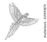 Macaw Parrot Coloring Page....