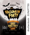 halloween party. vector... | Shutterstock .eps vector #319697750