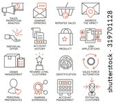 vector set of 16 icons related... | Shutterstock .eps vector #319701128