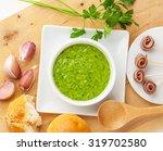 green sauce with ingredients ... | Shutterstock . vector #319702580