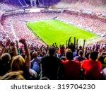 football  soccer fans support... | Shutterstock . vector #319704230