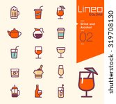 lineo colors   drink and... | Shutterstock .eps vector #319708130