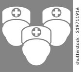 medical staff vector icon.... | Shutterstock .eps vector #319711916