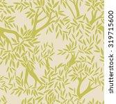 tree seamless pattern | Shutterstock .eps vector #319715600