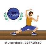 bodycombat concept with avatar... | Shutterstock .eps vector #319715660
