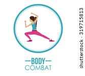 bodycombat concept with avatar... | Shutterstock .eps vector #319715813