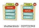 vector simple game menu...