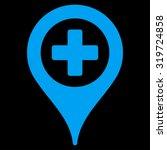 hospital map pointer vector...   Shutterstock .eps vector #319724858