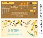 web banner concept of diy shop. ... | Shutterstock .eps vector #319727006