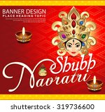 shubh navratri background with... | Shutterstock .eps vector #319736600