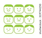 vector smile icon set | Shutterstock .eps vector #319744250