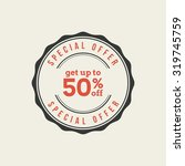 isolated sales label with text... | Shutterstock .eps vector #319745759