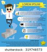 infographic businessman jumping ... | Shutterstock .eps vector #319748573