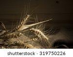 ripe ears of wheat on the... | Shutterstock . vector #319750226
