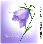 bluebell with ladybug. | Shutterstock .eps vector #31975477